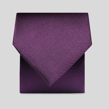 Load image into Gallery viewer, Folkespeare Plum Textured Classic Tie