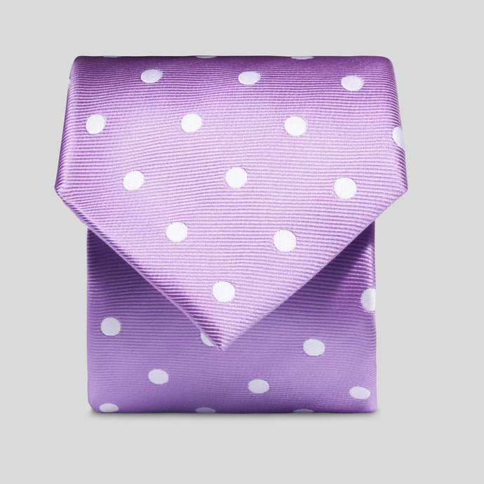Folkespeare Purple And White Neat Polka Dot Classic Tie