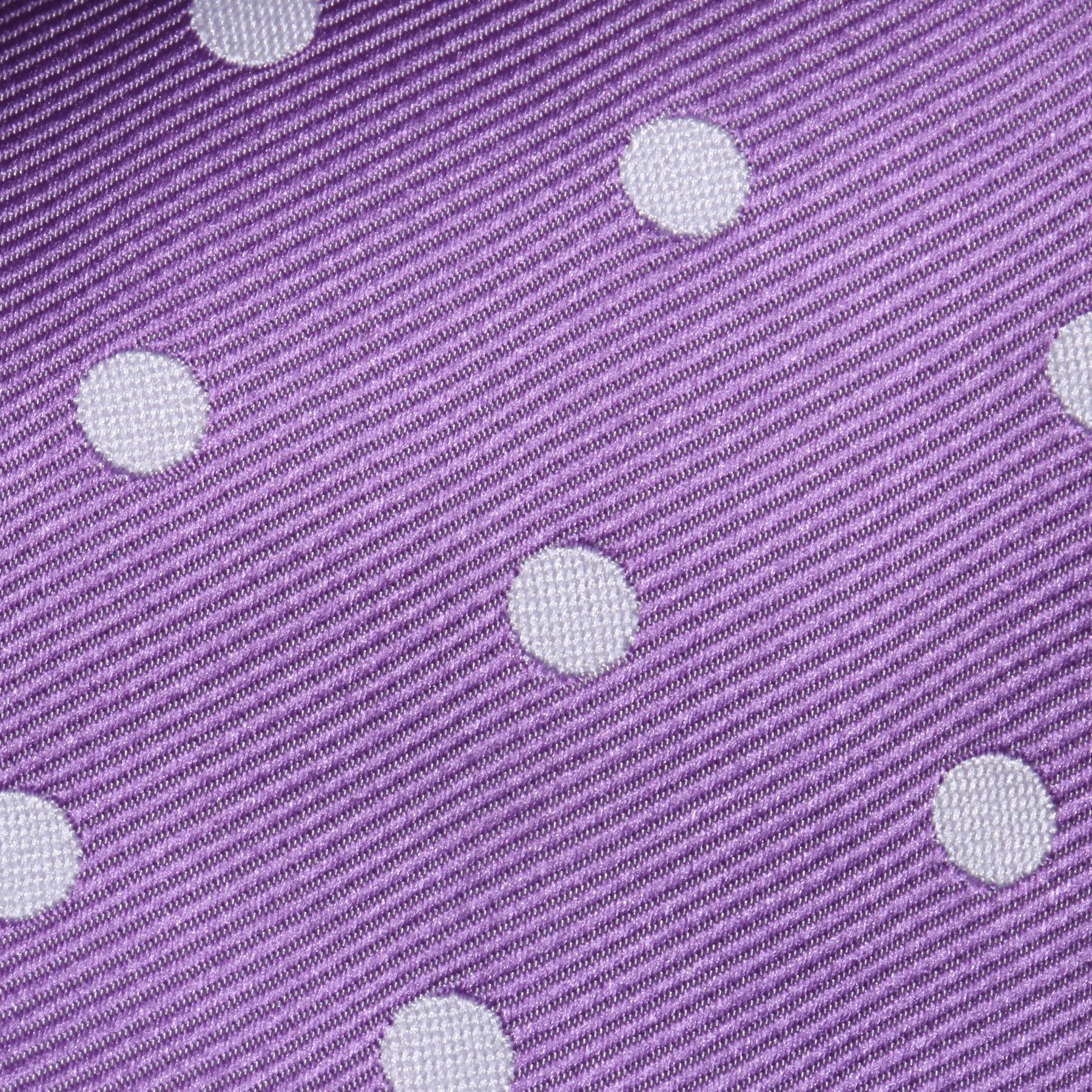 Folkespeare Purple And White Neat Polka Dot Classic Tie Fabric