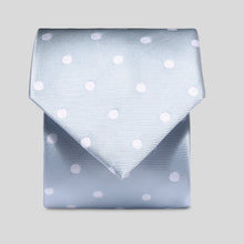 Load image into Gallery viewer, Folkespeare Light Grey And White Neat Polka Dot Classic Tie