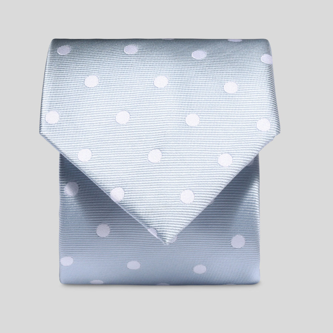 Folkespeare Light Grey And White Neat Polka Dot Classic Tie