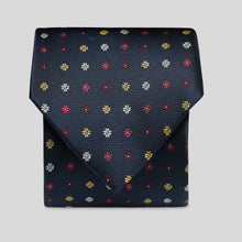 Load image into Gallery viewer, Dark Navy And Yellow Mini Neat Floral Classic Tie