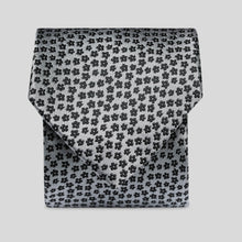 Load image into Gallery viewer, Black And Grey Minature Floral Classic Tie