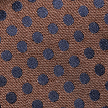 Load image into Gallery viewer, TM2783-01-Folkespeare-Chocolate-Brown-And-Dark-Navy-Polka-Dot-Classic-Tie-2