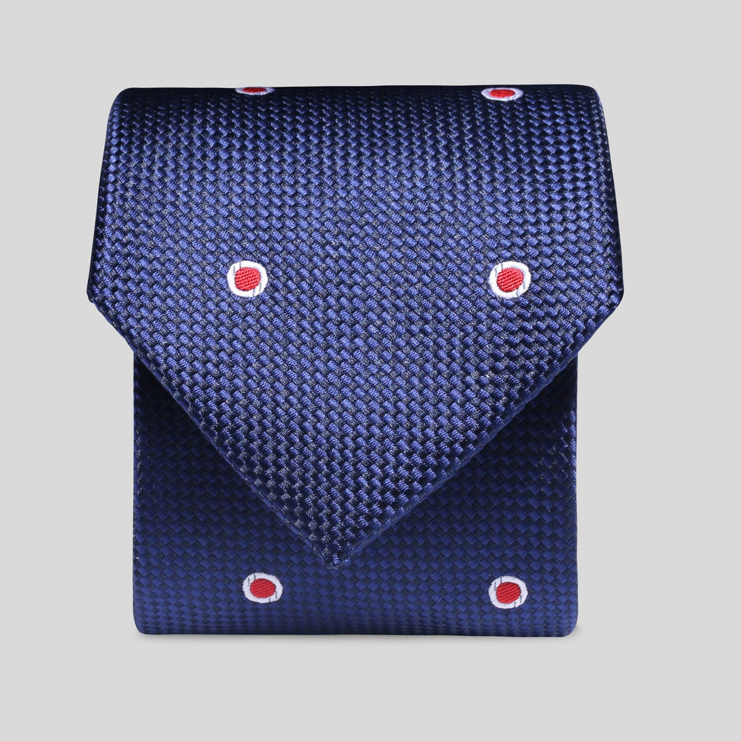 TM2798-01-Folkespeare-Dark-Navy-And-Red-Wide-Spread-Polka-Dot-Classic-Tie-1