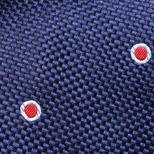 Load image into Gallery viewer, TM2798-01-Folkespeare-Dark-Navy-And-Red-Wide-Spread-Polka-Dot-Classic-Tie-2