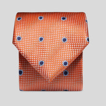 Load image into Gallery viewer, TM2798-02-Folkespeare-Bright-Orange-And-Navy-Wide-Spread-Polka-Dot-Classic-Tie-1