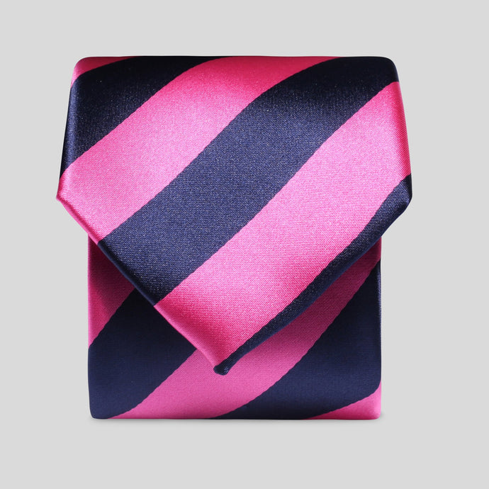 TM2800-01-Folkespeare-Bright-Pink-And-Navy-Boating-Classic-Tie-1