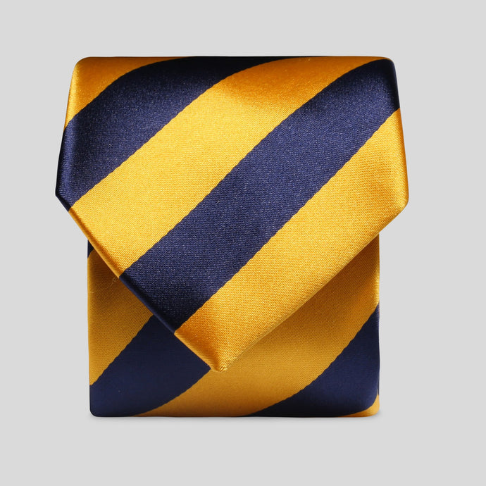 Folkespeare Bright Yellow And Navy Boating Classic Tie