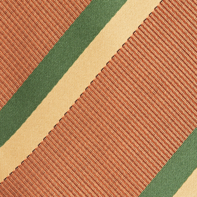 Squash, Gold And Forest Green Stripe Classic Tie Fabric