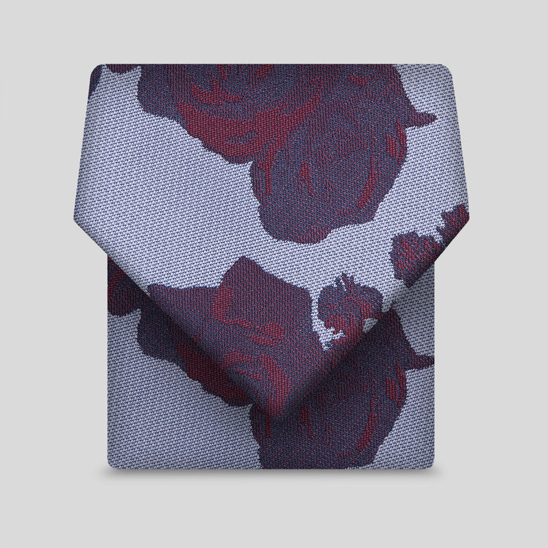 Lilac And Burgundy Floral Classic Tie