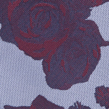 Load image into Gallery viewer, Lilac And Burgundy Floral Classic Tie Fabric