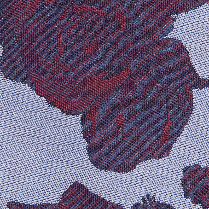 Lilac And Burgundy Floral Classic Tie Fabric