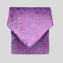 Load image into Gallery viewer, Folkespeare Fushia Floral Classic Tie