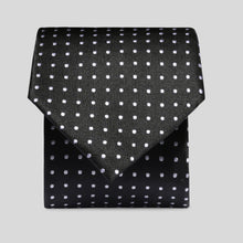 Load image into Gallery viewer, Folkespeare Black And White Mini Graph Polka Dot Classic Tie
