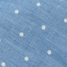 Load image into Gallery viewer, Light Blue With White Polka Dot Cotton Slim Tie