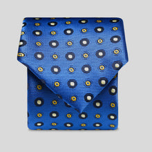 Load image into Gallery viewer, Folkespeare Bright Blue Amd White Continued Pattern Polka Dot Slim Tie