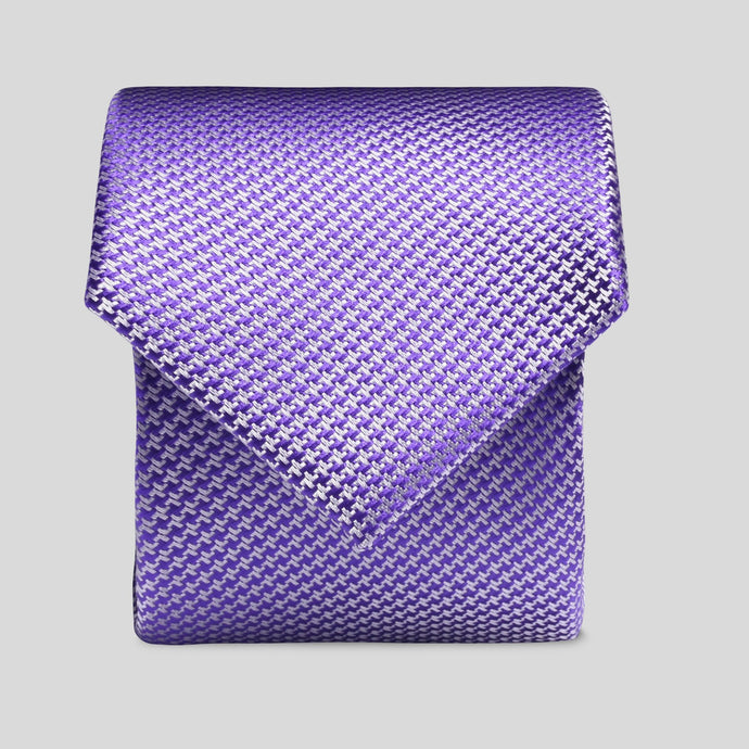 Folkespeare Purple Textured Semi Plain Slim Tie