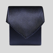 Load image into Gallery viewer, TM4139-02-Folkespeare-Midnight-Blue-Textured-Semi-Plain-Slim-Tie-1