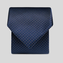 Load image into Gallery viewer, Dark Navy And White Mini Graph Polka Slim Tie