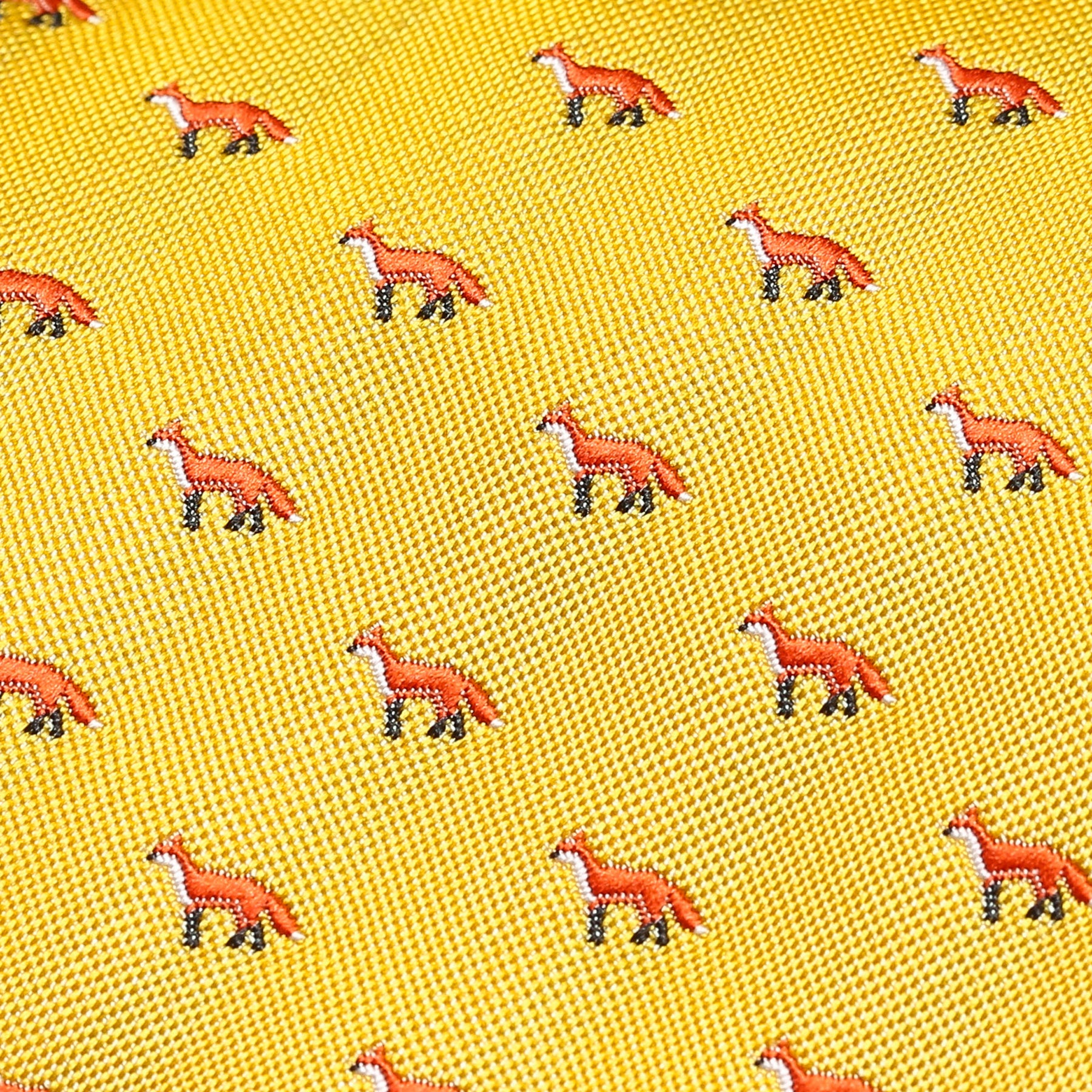 Bright Yellow Fox Slim Tie