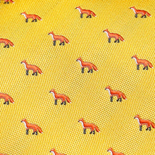 Load image into Gallery viewer, Bright Yellow Fox Slim Tie