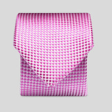 Load image into Gallery viewer, Folkespeare Pink Textured Polka Dot Slim Tie