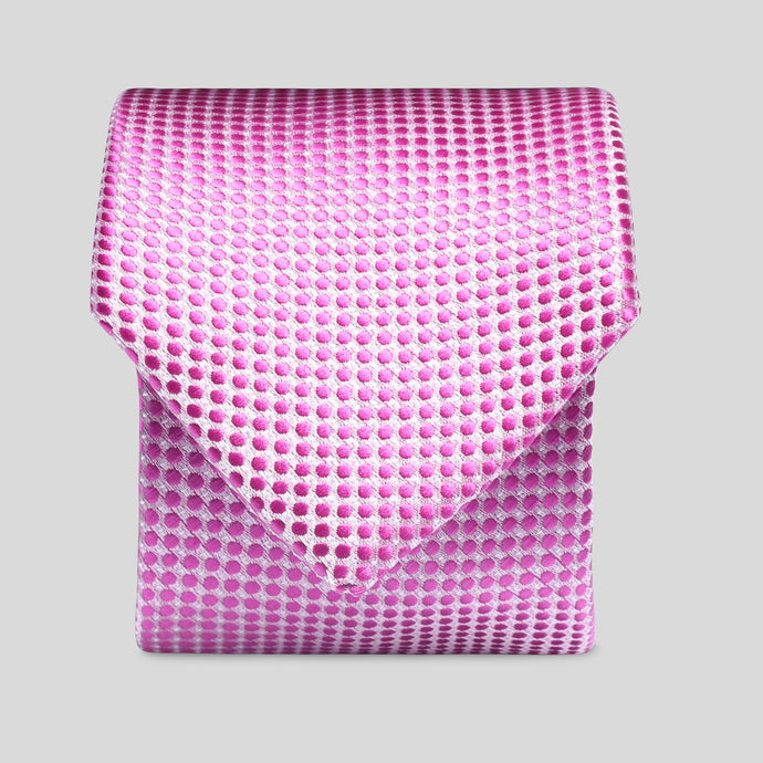 TM4149-01-Folkespeare-Pink-Textured-Polka-Dot-Slim-Tie-1