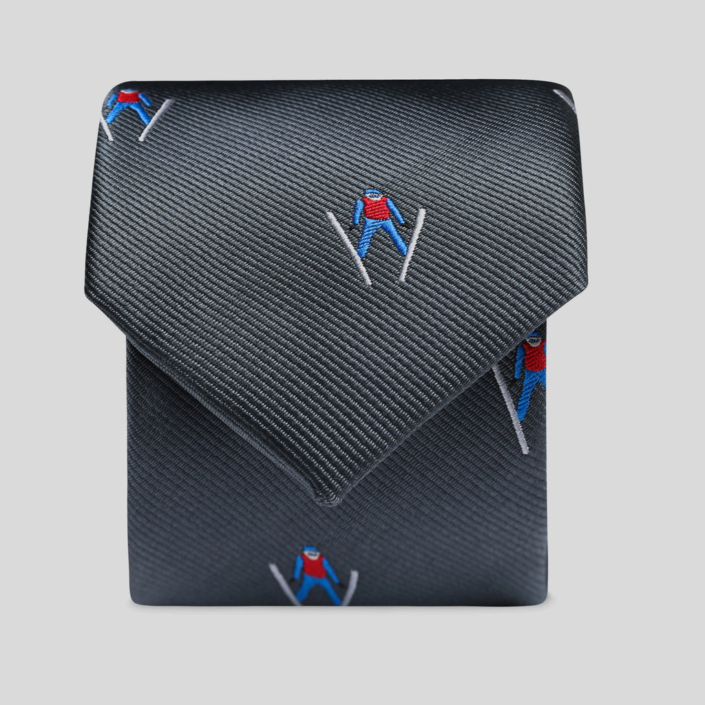 Dark Grey Flying Skier Slim Tie