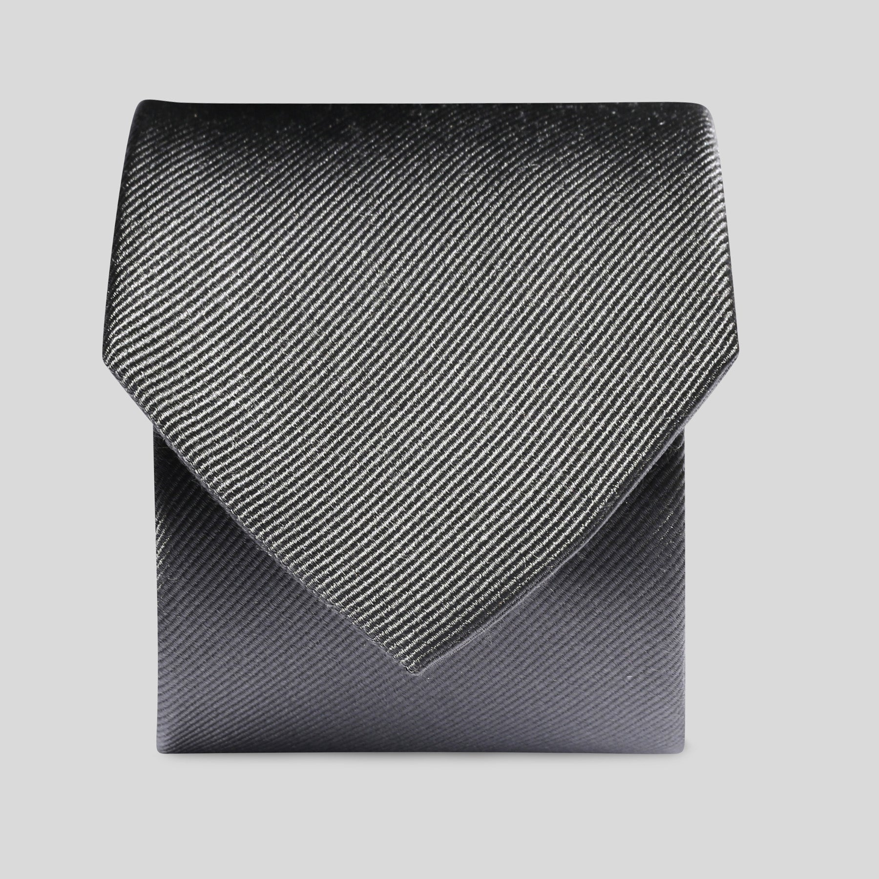 Folkespeare Charcoal Silk Classic Tie