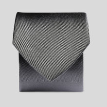 Load image into Gallery viewer, Folkespeare Charcoal Silk Classic Tie