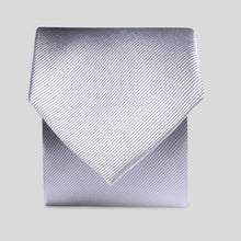Load image into Gallery viewer, Folkespeare Silver Grey Silk Classic Tie