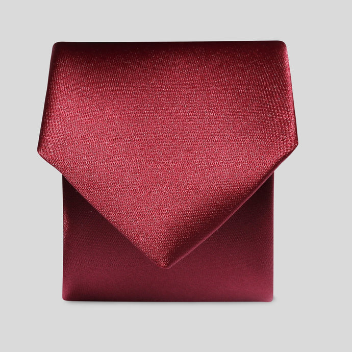 Folkespeare Burgundy Satin Slim Tie