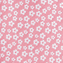 Load image into Gallery viewer, Rose Pink With White Ditsy Flower Pattern Slim Tie Fabric