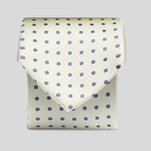 Load image into Gallery viewer, TS4160-02-Folkespeare-Lemon-With-Navy-Polka-Dot-Slim-Tie-1