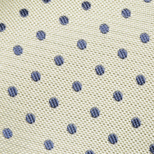 Load image into Gallery viewer, TS4160-02-Folkespeare-Lemon-With-Navy-Polka-Dot-Slim-Tie-2