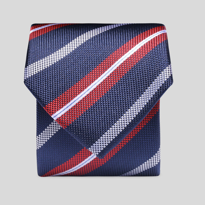 TS4162-02-Folkespeare-Navy-Red-And-White-Diagonal-Stripe-Slim-Tie-1