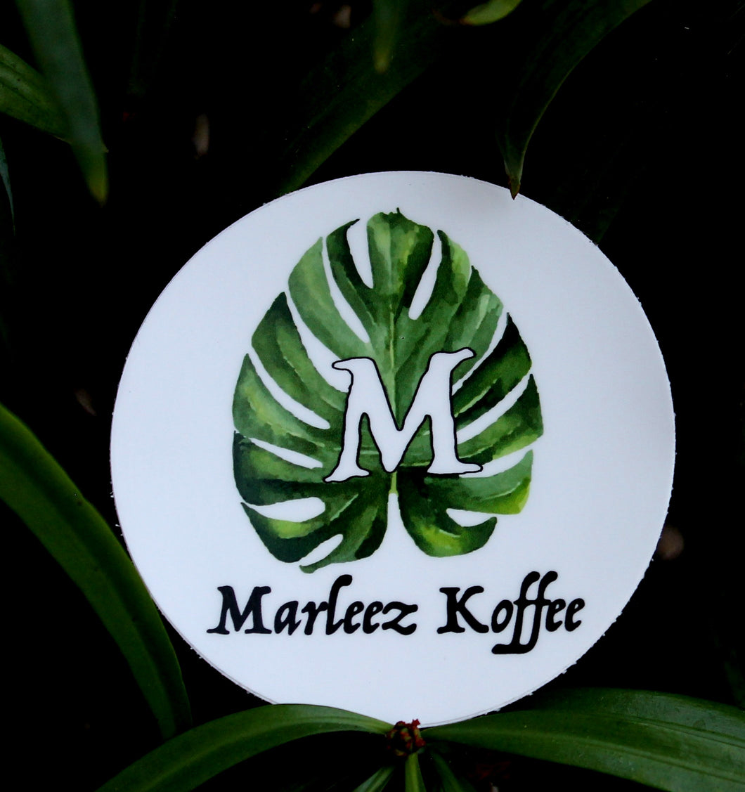 Marleez Koffee Circle Sticker