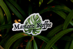 Marleez Koffee Die Cut Sticker