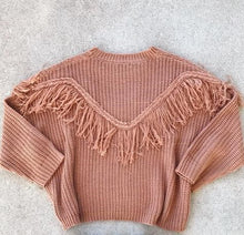 Load image into Gallery viewer, Light Brown Fringe Sweater