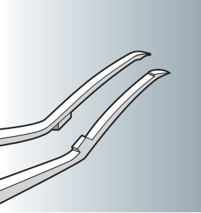 Capsulorhexis forceps curved cross action SC33