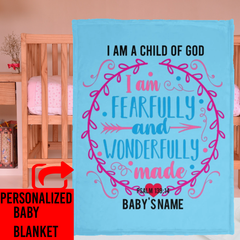 Christian Baby blanket with Bible verse