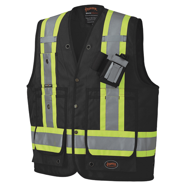 Pioneer Surveyor's/Supervisors Safety Vest  PU Coated Style 695