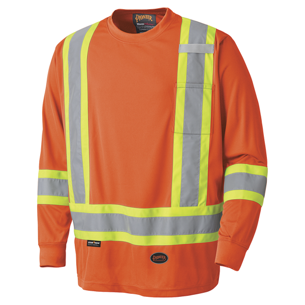 Pioneer Hi-Viz Safety Long-Sleeved Shirt - Birdseye Poly  Style 6995