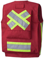 Pioneer Surveyor's/Supervisors Safety Vest PU Coated Style 693