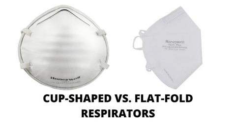 CUP-SHAPED VS. FLAT FOLD RESPIRATORS