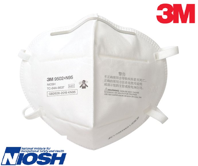 3M 9502+ NIOSH N95 Headwrap - CDC Approved (50 pieces at $2.59/Respirator) - KN95 Respirator Masks For Sale
