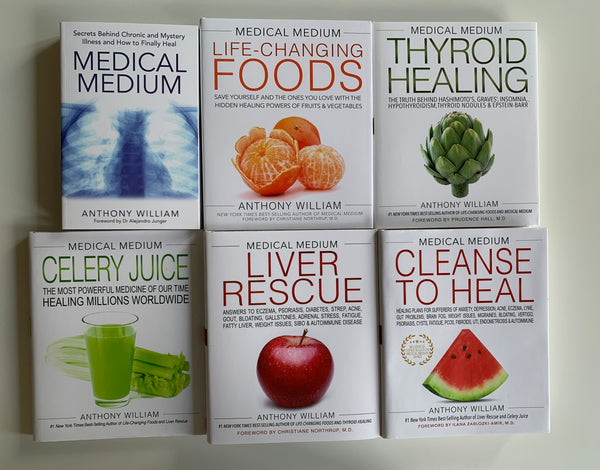 All 6 Books published by Anthony William the Medical Medium