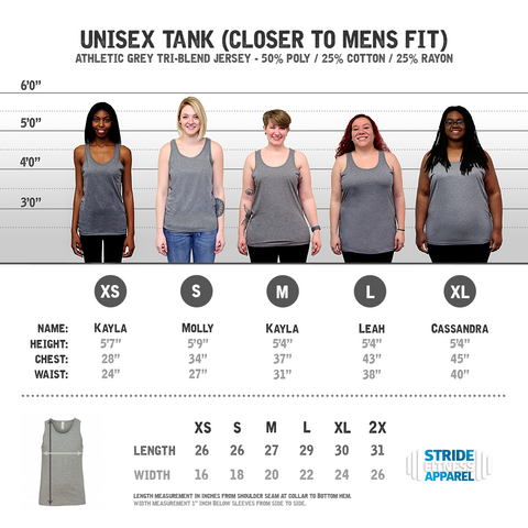 I Run in the Mud on a Unisex Athletic Grey Tank Top