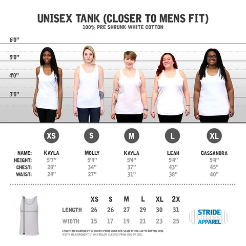 Working Out to Gain Health Points on a Unisex Tank Top